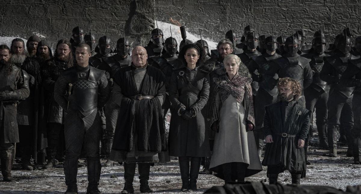 Corte de Daenerys tras la Batalla de Winterfell. Foto de HBO