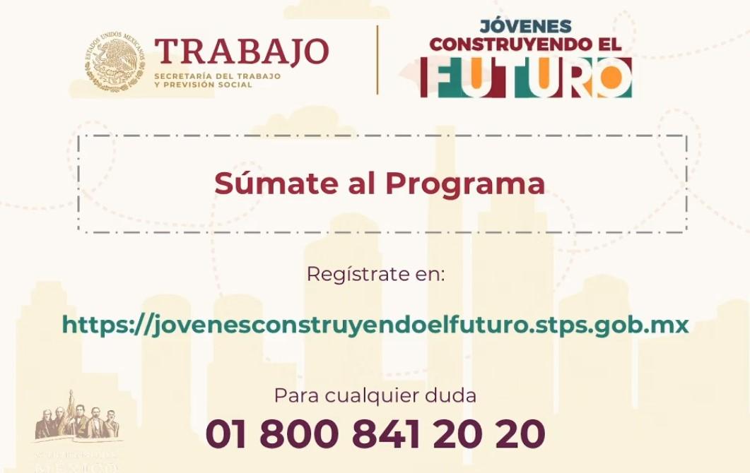 Datos de Jóvenes Construyendo el Futuro. Captura de pantalla