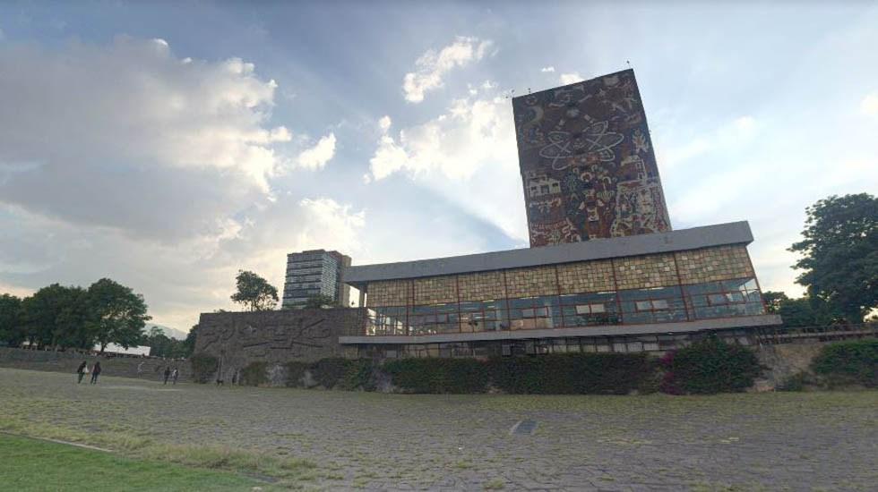 Vinculan a proceso a sujeto que disparó en inmediaciones de la UNAM - Edificio de la Facultad de Filosofía y Letras de la UNAM. Foto de Google Maps