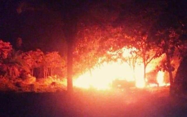Explota toma clandestina en Chiapas - explosión