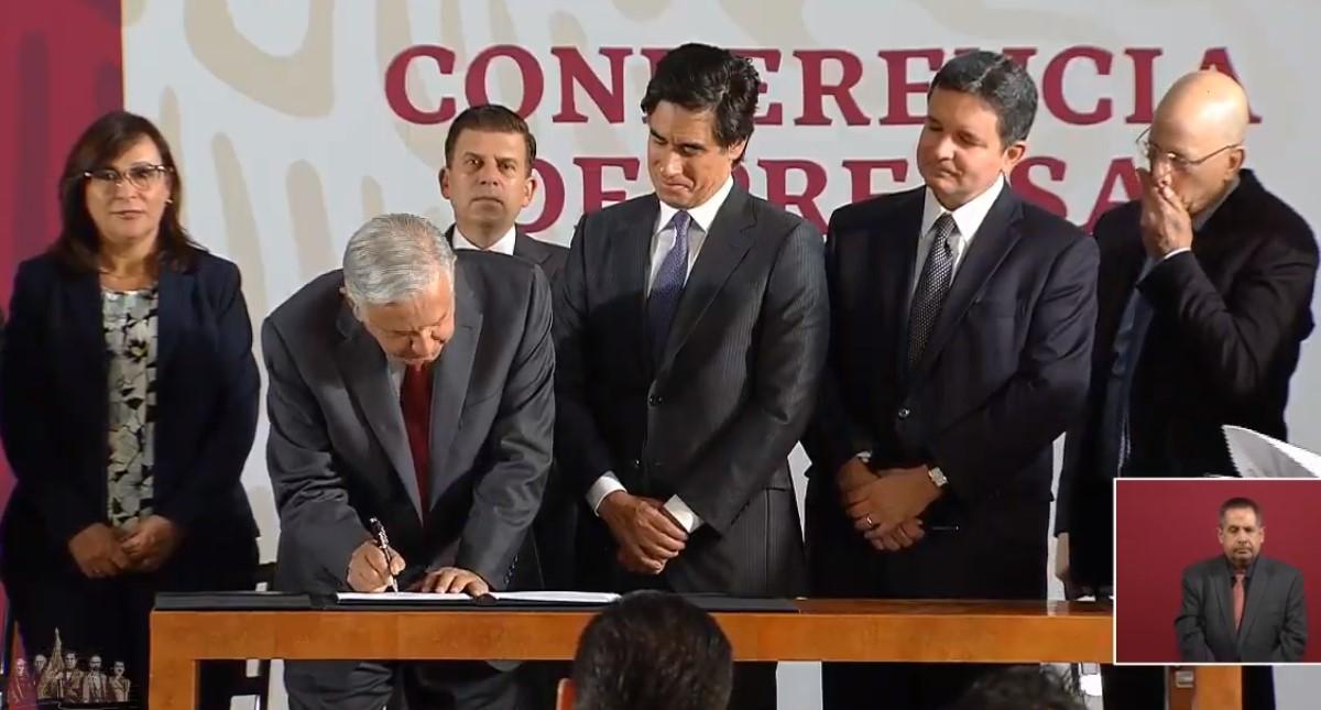 Firma de convenio con bancos. Captura de pantalla
