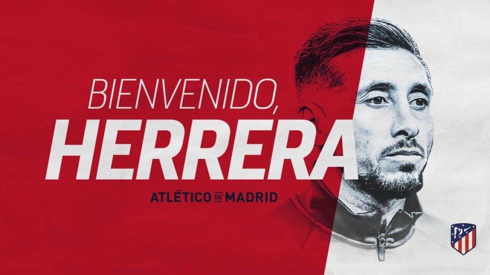 Héctor Herrera es nuevo jugador del Atlético de Madrid - Héctor Herrera. Foto de @Atleti