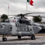 Cinco marinos murieron en desplome de helicóptero en Querétaro: Semar - Helicóptero MI-17. Foto de @SEMAR_mx