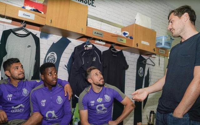 Iker Casillas visitó a sus compañeros en el Porto, entre ellos el mexicano Héctor Herrera - iker Casillas