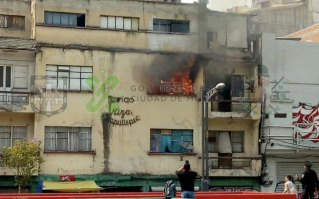 Se registra incendio en edificio de la colonia Juárez - incendio colonia Juárez