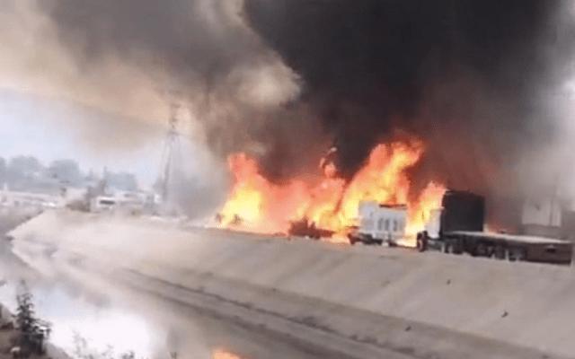 Fuerte incendio en Cuautitlán Izcalli - incendio