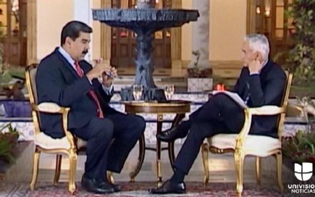 Transmiten íntegramente la entrevista de Jorge Ramos con Nicolás Maduro - Foto de Univision
