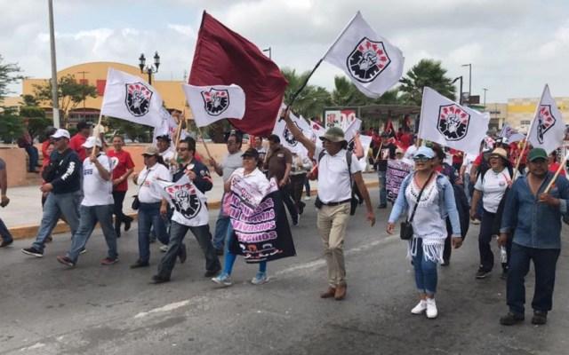 Gobierno dona cinco predios al Sindicato Mexicano de Electricistas - Marcha del Sindicato Mexicano de Electricistas. Foto de @SindicatoSME