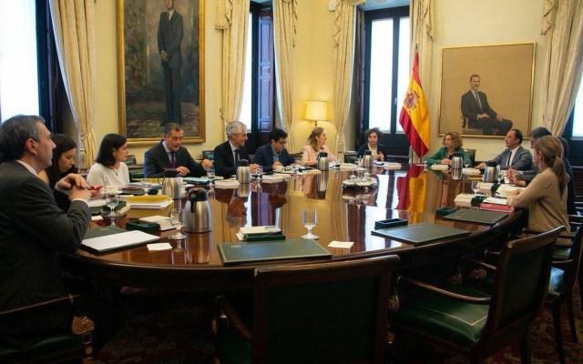 Parlamento de España suspende a diputados catalanes independentistas - Mesa del Congreso de los Diputados. Foto de @Congreso_Es