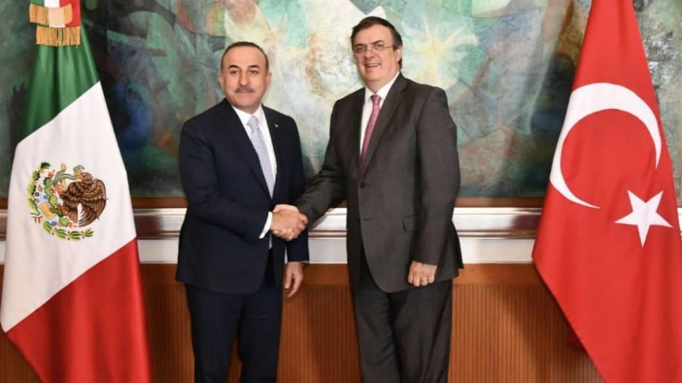 Cancilleres de México y Turquía dialogan sobre fortalecimiento bilateral - Foto de @SRE_mx