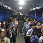 Aseguran a 32 migrantes que viajaban en autobús en Chiapas - Migrantes autobús Tonalá Chiapas