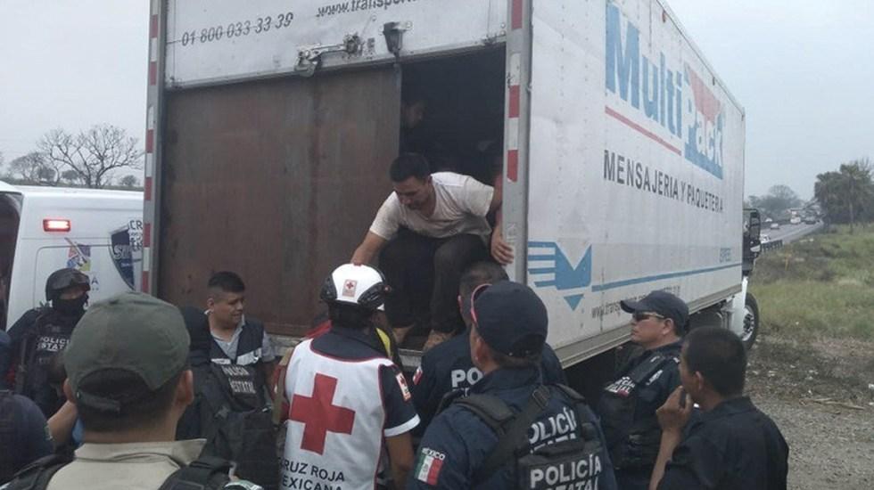 Rescatan al menos a 100 migrantes en Veracruz - Foto de Libertad Bajo Palabra