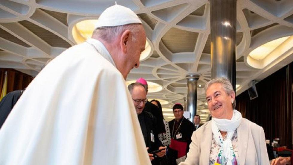 Papa Francisco con María Luisa Berzosa. Foto de Vida Nueva Digital