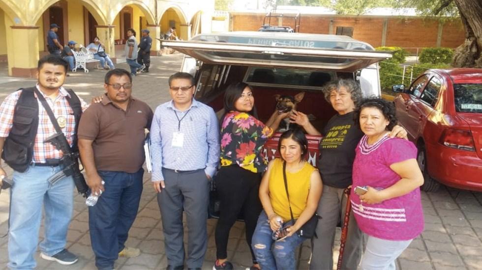 Liberan a perro que permanecía detenido en Oaxaca - perro liberado en Oaxaca