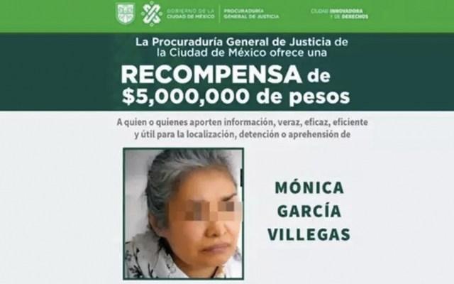 Familiar cercano recibirá recompensa por detención de directora del Rébsamen - recompensa