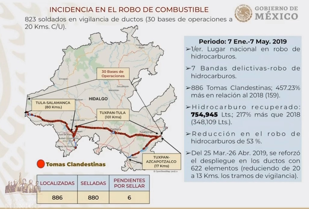 Robo de combustible en Hidalgo. Captura de pantalla