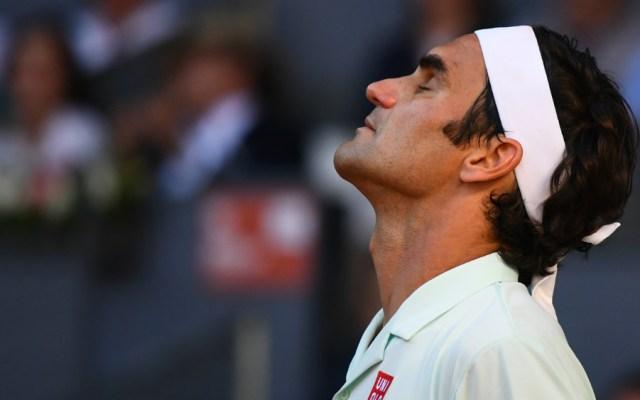 Roger Federer cayó en el Madrid Open; Nadal y Djokovic a semifinales - Roger Federer. Foto de AFP