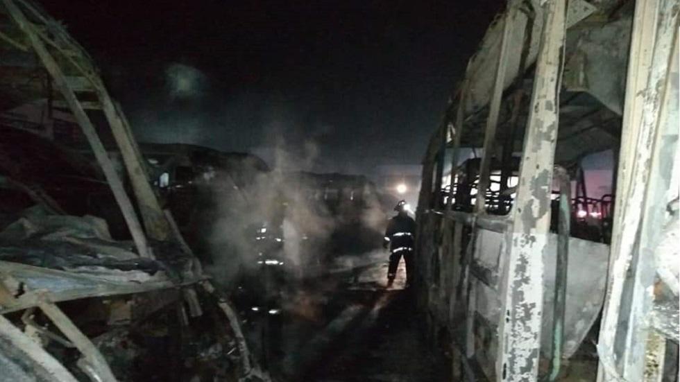 Secuelas del incendio. Foto de Quadratín