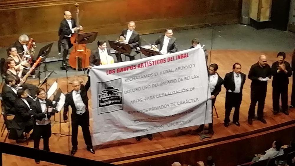 Sinfónica Nacional rechaza proselitismo religioso en Bellas Artes