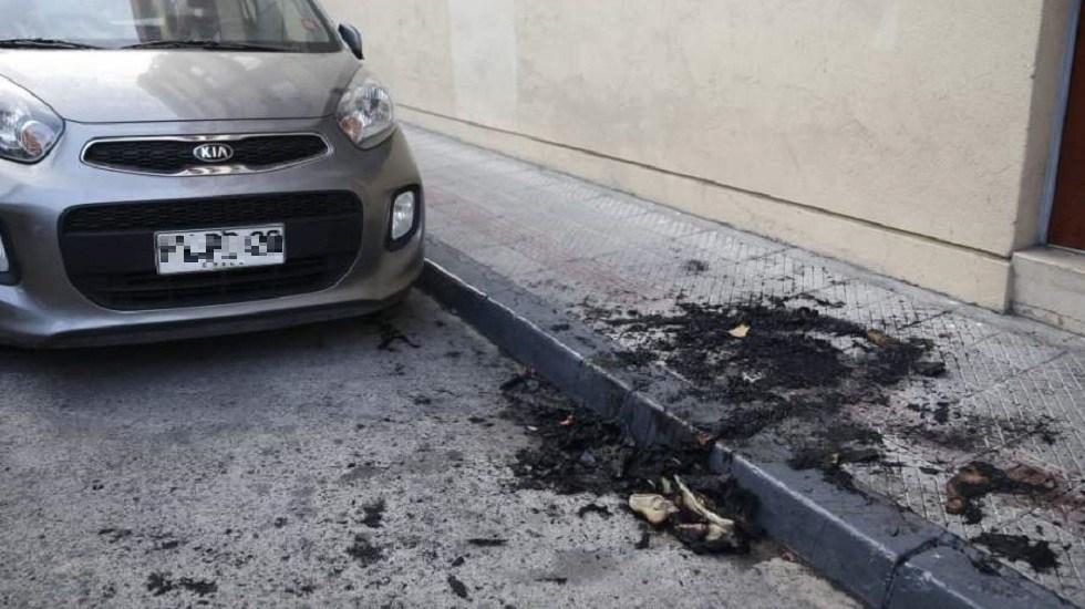 Hallan cadáver calcinado de mujer dentro de maleta en Chile - Sitio donde quemaron una maleta con el cadáver de una mujer dentro. Foto de La Tercera