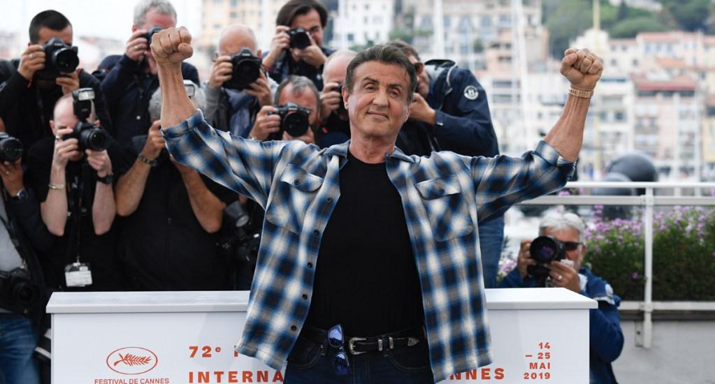 Stallone encanta al público en Cannes - Foto de AFP