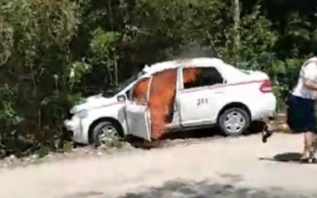 #Video Enfrentamiento entre taxistas y mototaxistas en Quintana Roo - Foto de captura de pantalla