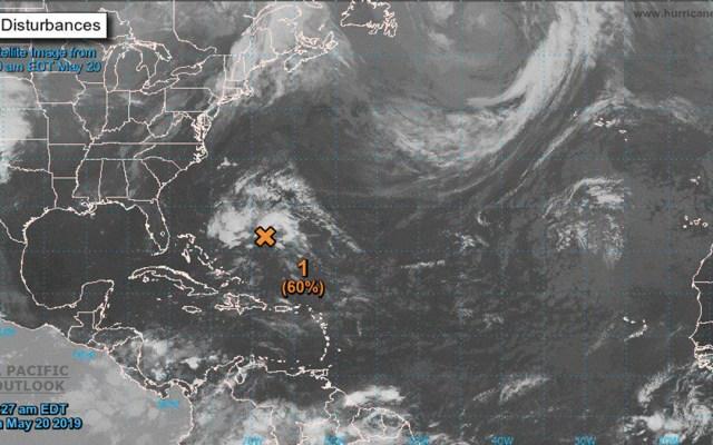 Primera tormenta del año en el Atlántico podría formarse esta noche - Foto de NHC