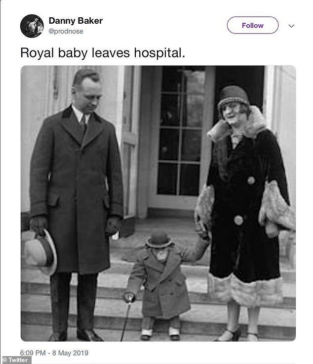presentador bbc bebé real mono