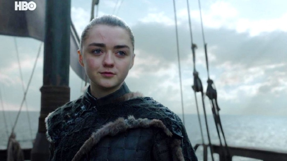 Descartan spin off de Game of Thrones protagonizado por Arya Stark - Última escena de Arya Stark en Game of Thrones. Foto de HBO