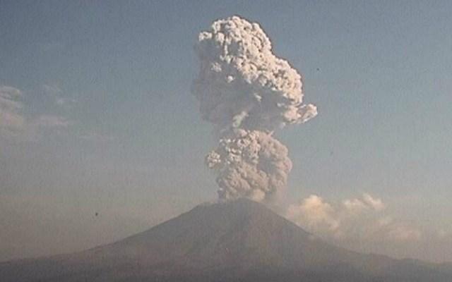 Nueva explosión del volcán Popocatépetl
