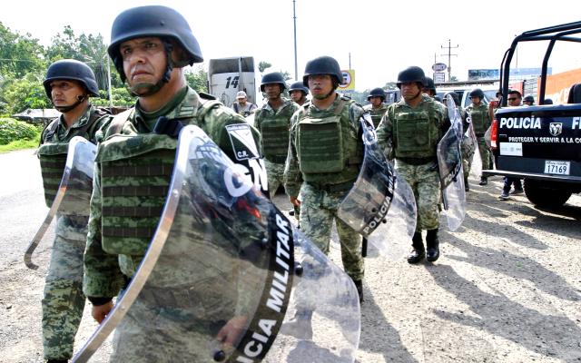 Confirman dos muertos tras agresión a Guardia Nacional en Chihuahua - Agentes de la Guardia Nacional. Foto de Notimex