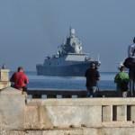 Navíos rusos llegan a Cuba en medio de tensiones con EE.UU. - Arribo de la la fragata Almirante Gorshkov. Foto de AFP / Adalberto Roque