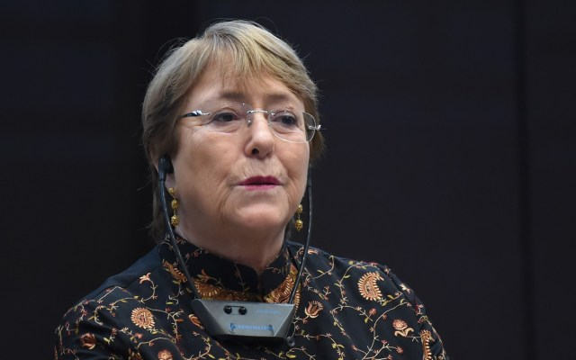 Michelle Bachelet visitará Venezuela del 19 al 21 de junio - Michelle Bachelet, alta comisionada de Derechos Humanos de la ONU. Foto de AFP / Fethi Belaid