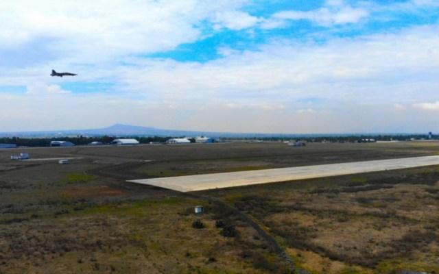 Sedena desmiente colapso de estructura metálica en obras de Santa Lucía - Base Aérea de Santa Lucía. Foto de Mexicanos contra la Corrupción