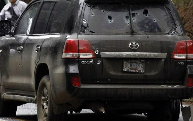 Dan 34 años de cárcel a 12 policías federales involucrados en ataque a agentes de la CIA - Camioneta en la que viajaban los agentes de la CIA. Foto de SBS News