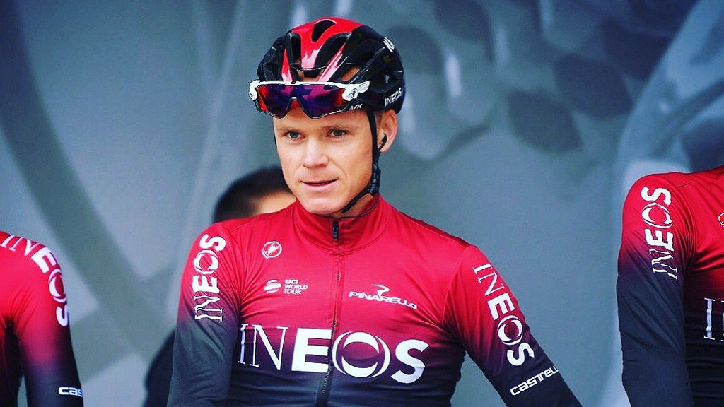 Chris Froome se perderá el Tour de Francia por fracturas - Chris Froome antes de entrenamiento rumbo al Dauphiné. Foto de @chrisfroome
