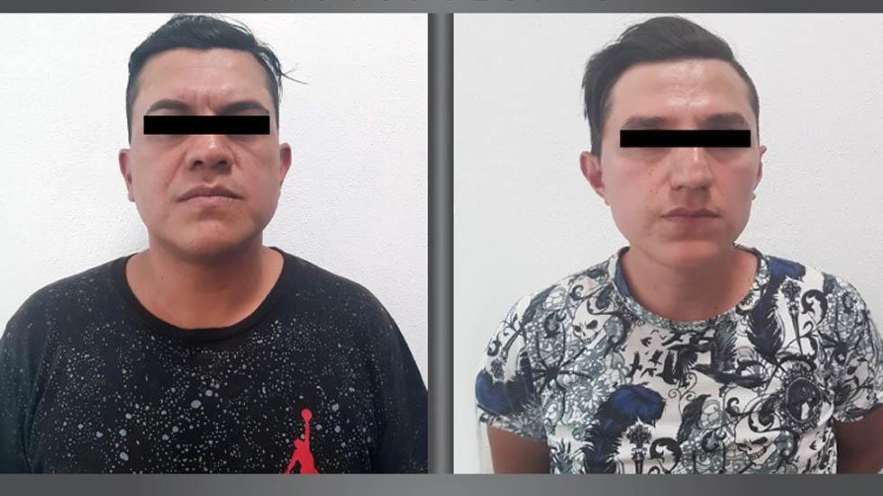 Detienen en tianguis de Ecatepec a dos sujetos con 125 celulares - Detenidos celulares Ecatepec tianguis