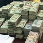 Aseguran en Nuevo Laredo más de un millón de dólares en efectivo