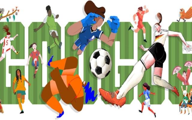 Google celebra inicio del mundial femenil de futbol con doodle - Doodle del mundial femenil de futbol. Foto de Google