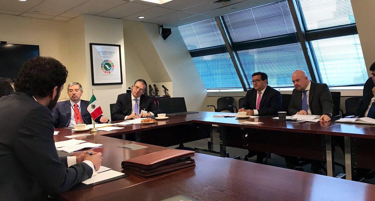 ONU acepta colaborar con plan para Centroamérica, anuncia Ebrard