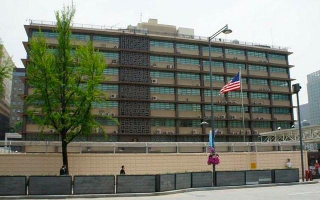 Detienen a hombre tras chocar contra embajada de EE.UU. en Corea del Sur - embajada