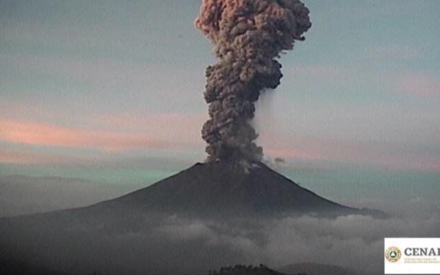 Dispersión de ceniza del Popocatépetl afectará Puebla y Morelos - explosión volcán popocatépetl
