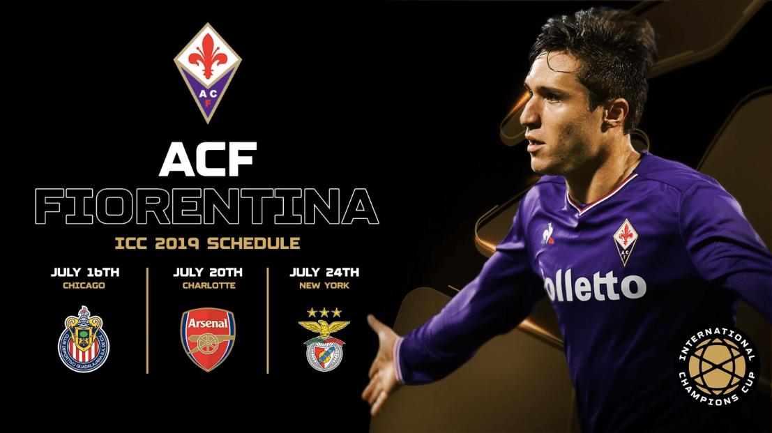 Fiorentina ocupará el lugar de la Roma en la International Champions Cup. Foto de ICC2019
