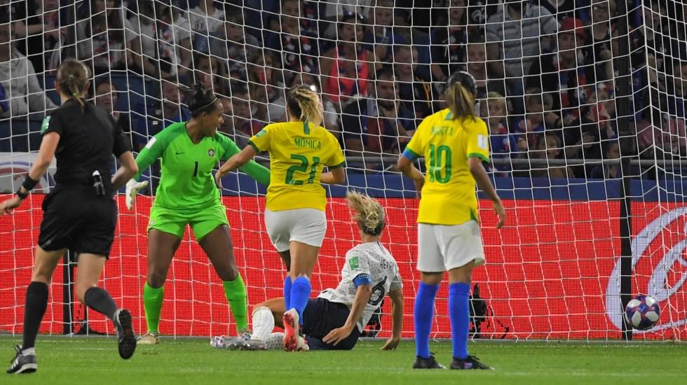Francia sorprende y elimina a Brasil del Mundial Femenil - El gol de la mediocampista Amandine Henry. Foto de LOIC VENANCE / AFP.