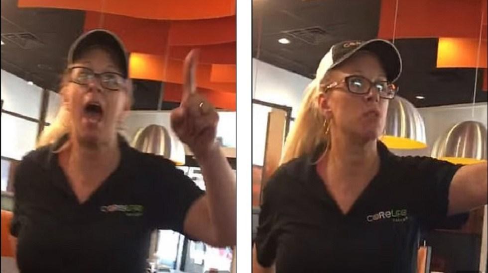 #Video Gerente de restaurante despide a latina por pedir un aumento - Gerente de CoreLife que despidió a empleada latina. Captura de pantalla