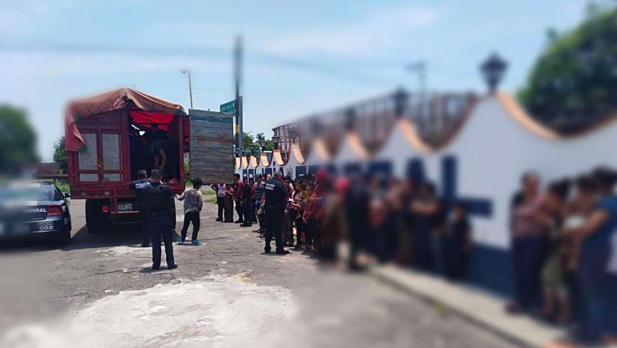 Aseguran a 101 migrantes en Veracruz | Nacional