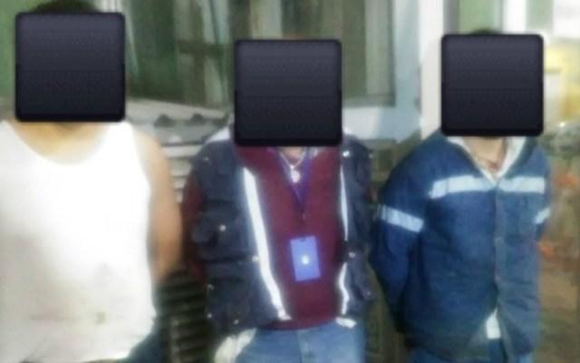 Detienen en Miguel Hidalgo a banda de ladrones de cable - Foto de @vromog