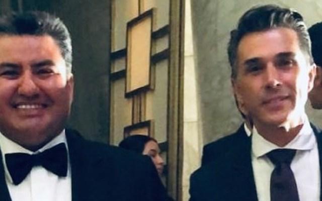Sergio Mayer se deslinda de relación con Naasón Joaquín - Naasón Joaquín y Sergio Mayer en evento de La Luz del Mundo en Bellas Artes. Foto de @sergiomayerb