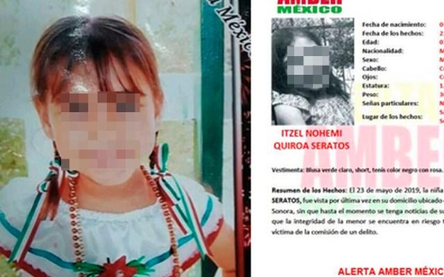 Detienen a presunto asesino de niña de siete años en Sonora - niña itzel sonora