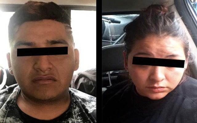Detienen a pareja en Chalco, dicen ser de la Unión Tepito - Pareja Unión Tepito Chalco detenidos